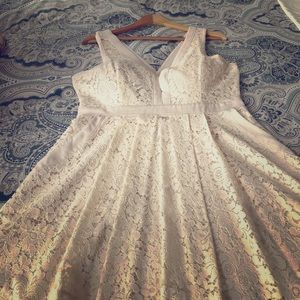 Free People - lace cream colored dress
